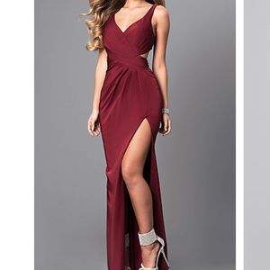 Faviana Wine Red formal gown
